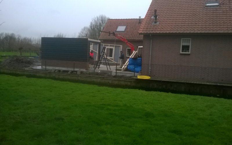 Aanleg onderheid terras